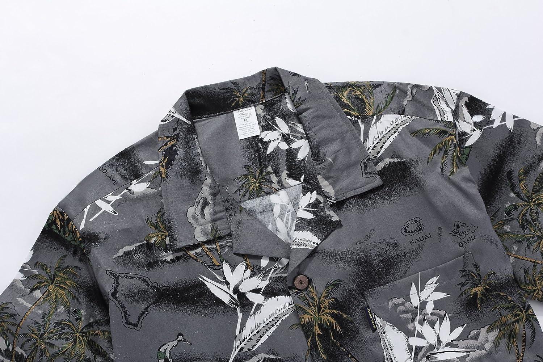 Palm Wave Mens Hawaiian Shirt Aloha Shirt