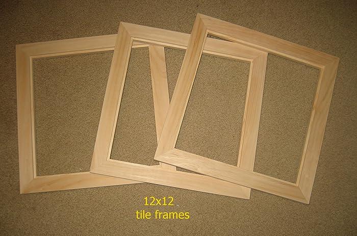 Amazon.com: Tile frames (3) - front mount - unfinished - 12x12 tiles ...