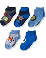 Nickelodeon Little Boys' Paw Patrol 5 Pack No Show Socks