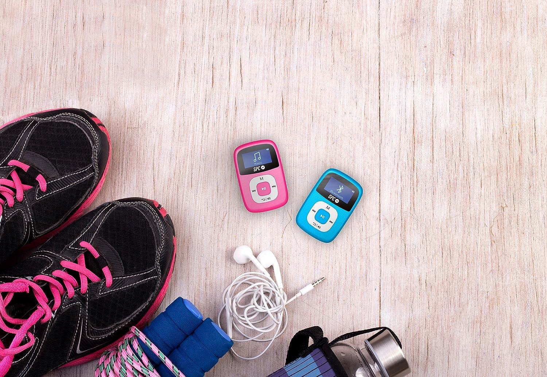 SPC Firefly Reproductor MP3 de 8 GB con Bluetooth y Radio FM en Color Rosa