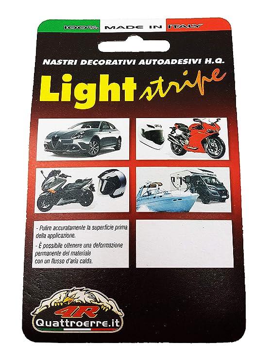 Quattroerre 10004 - Rollo de tiras adhesivas, rojo, 10 m x 3 mm: Amazon.es: Coche y moto
