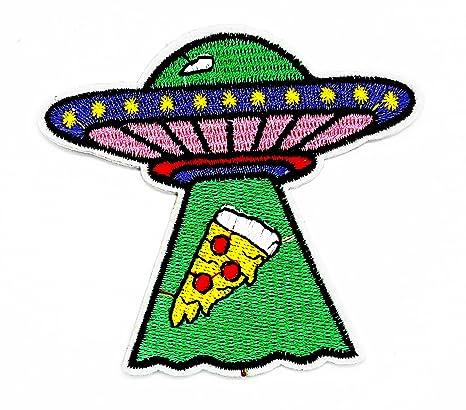 Little Bear Shop Cartoon Patches Pizza Ufo Parche Bordado