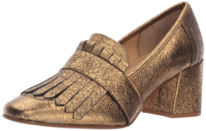 Kenneth Cole New York Women's Macey Kiltie Toe Tumbled Leather Dress Pump, Gold, 9 M US