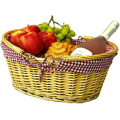 Wicker Picnic Baskets | Little Red Riding Hood Basket for Kids | Hand Woven Wicker Great for Easter Basket | Storage of Plastic Easter Eggs Candy Gift Wedding Baskets : Garden & Outdoor