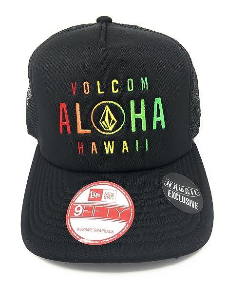 86ddcb25de9 Volcom Men s Trucker Cap D55216H1 BLK Aloha Stone Cheese Snapback at ...