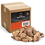 Camerons Smoking Wood Chunks (Apple) ~ 10 Pound Bag, 840 cu. in. - Kiln Dried BBQ Large Cut Chips - 100% All Natural Barbecu