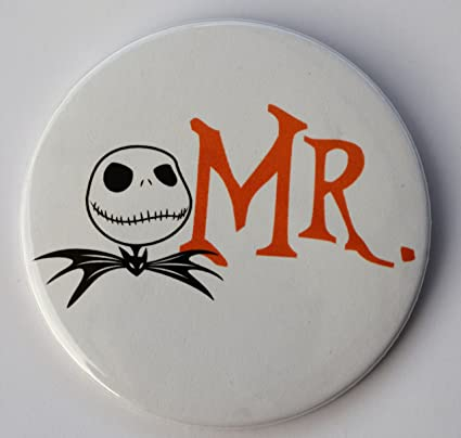 Amazon Com Mr Jack Skellington Nightmare Before Christmas Pin Back Button 3 Diameter Wedding Pin Toys Games Jack skellington, the pumpkin king of halloween town, is tired of the same old thing every year: amazon com