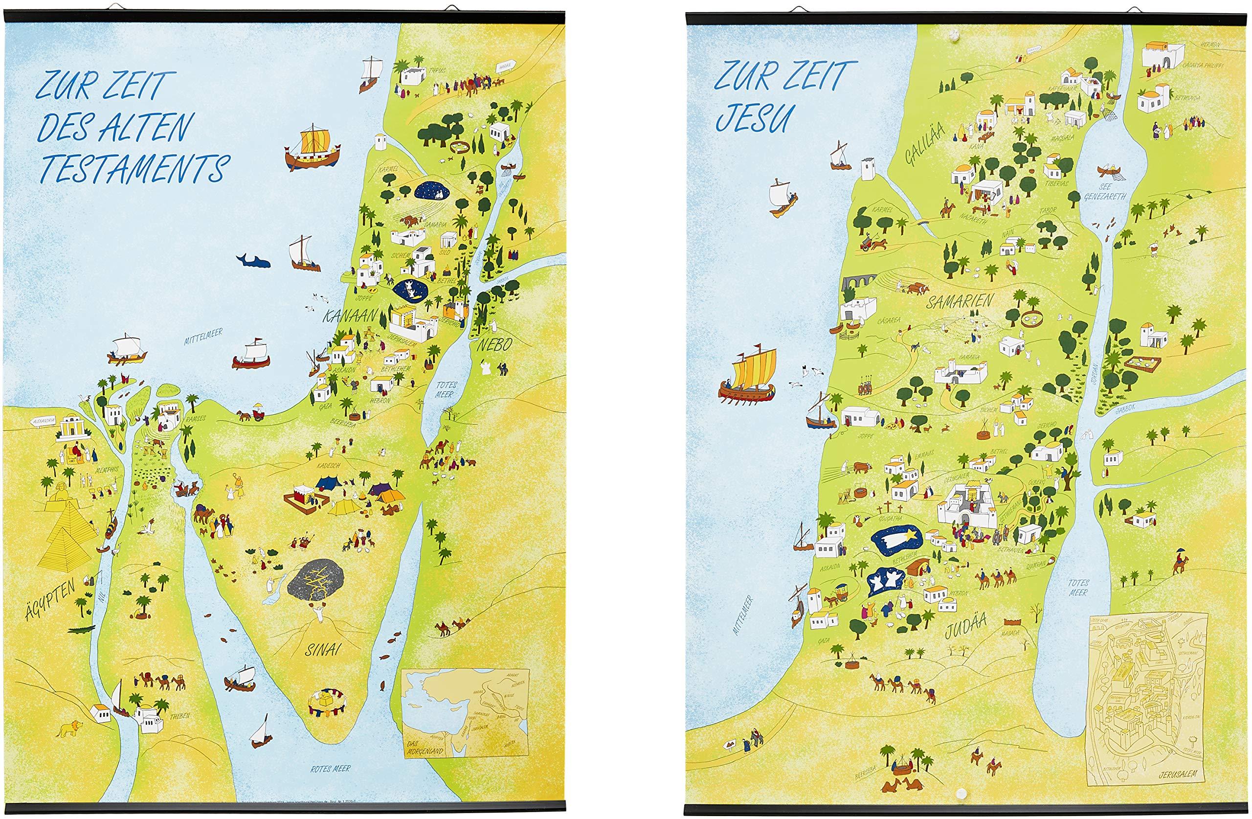Wandkarten Altes Testament Neues Testament Das Heilige Land Zur