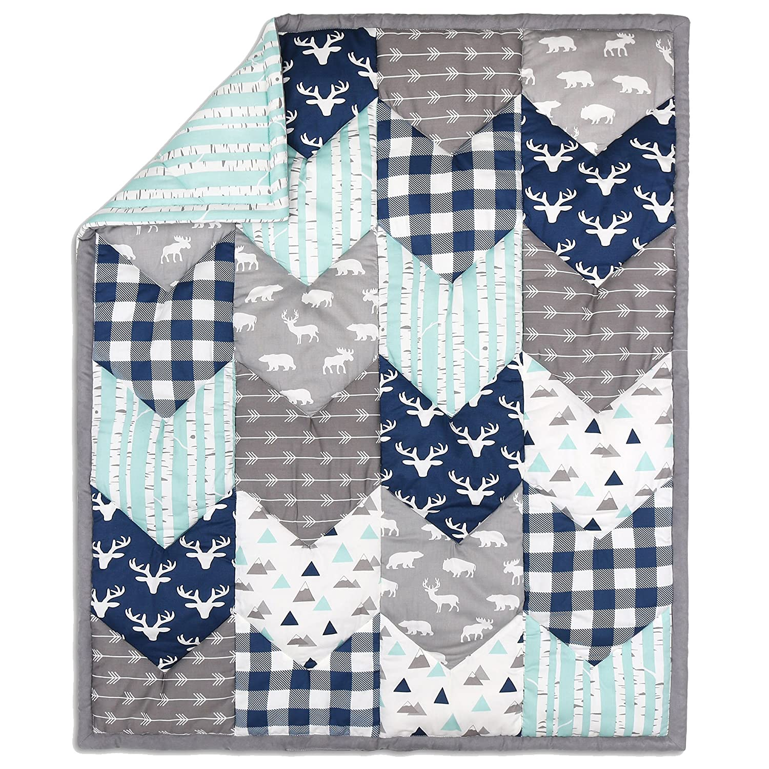 Woodland Trail Chevron Patchwork Quilt by The Peanut Shell