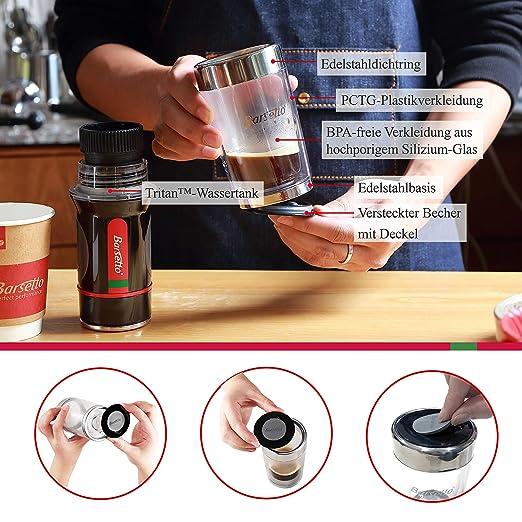 Pulsa Cafetera Eléctrica Bar Setto Espresso Capsule y café polvo mano presionado Café Maker para senderismo camping y Picnic: Amazon.es: Hogar