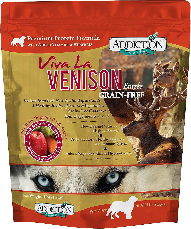 Addiction Grain Free Dry Dog Food Formulas Venison