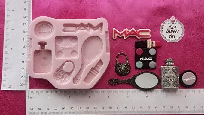 Mac Set make up  Silicone mold cake Decorating Mold Fondant Bake toppers  FDA