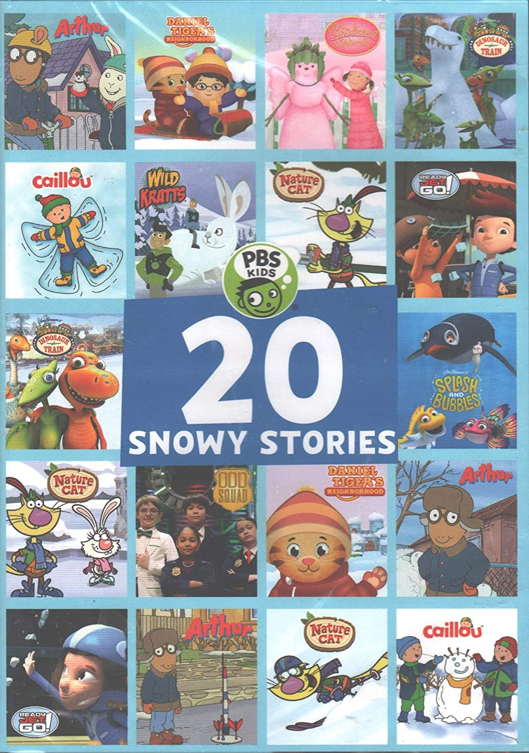 PBS Kids - 20 Snowy Stories: Arthur / Caillou / Daniel Tiger / Dinosaur Train / Nature Cat / Odd Squad / Ready Jet Go! / Splash and Bubbles / Wild Kratts / Pinkalicious and Peterrific