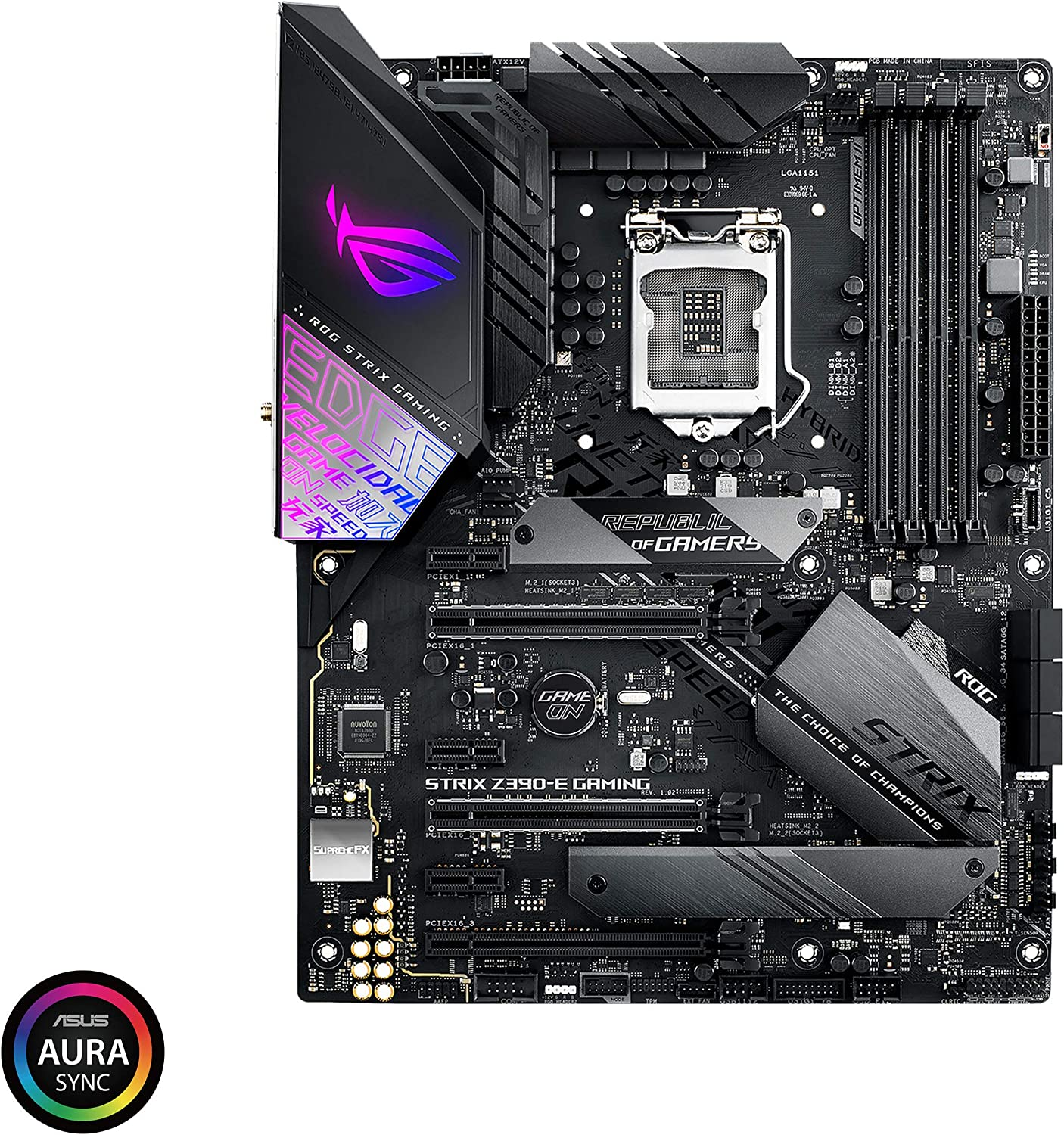 Asus ROG Strix Z390-E Gaming Motherboard LGA1151 (Intel 8th 9th Gen) ATX DDR4 DP HDMI M.2 USB 3.1 Gen2 802.11AC Wi-Fi