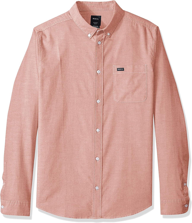 RVCA Mens Thatll Do Stretch Long Sleeve Button Up Shirt