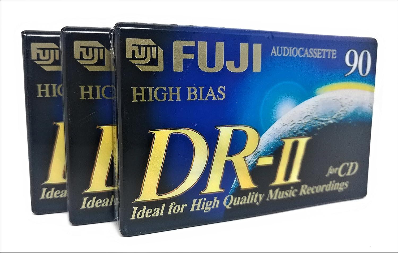 FUJI Cassette DR-II 90 Pack of 3 5269523
