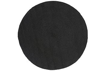 Amazon De Jute Co Tonga Teppich Handgewebt Baumwolle Schwarz