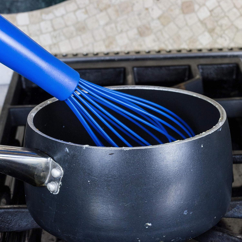 10.75 Blue Chef Craft Premium Silicone Wire Whisk