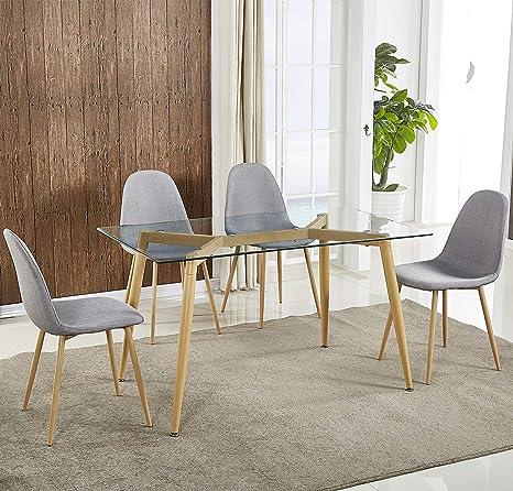 Amazon.com: Harper&Bright Designs Mesa de comedor ...