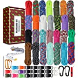 WEREWOLVES 550 Paracord - Survival Paracord Bracelet Crafting Kits Crafting Kits - Parachute Cord with Soft Tape Measure, Buc