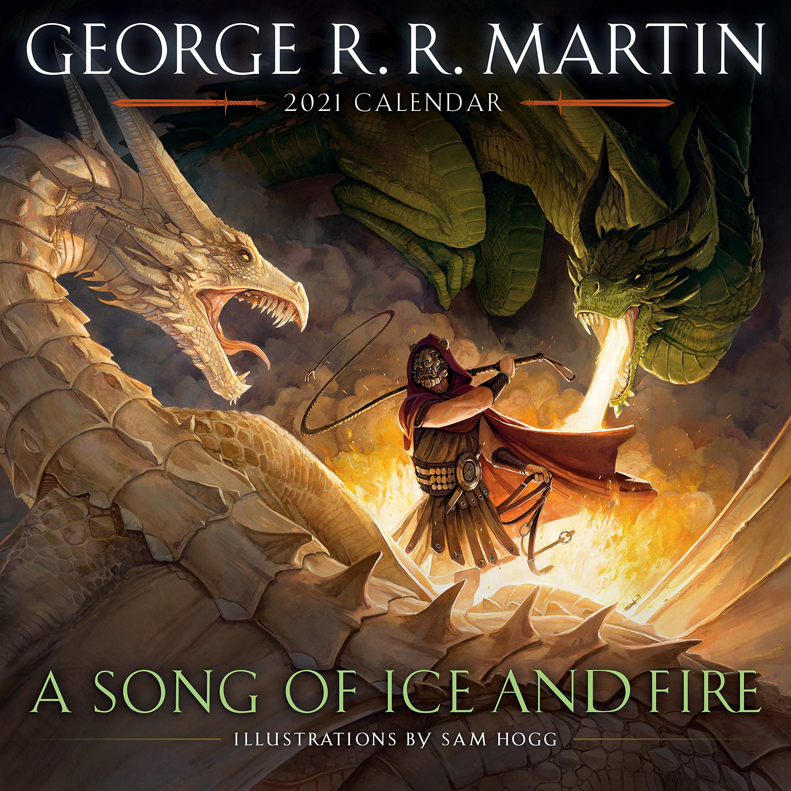Calendrier Serie Us 2022 A Song of Ice and Fire 2021 Calendar: Illustrations by Sam Hogg