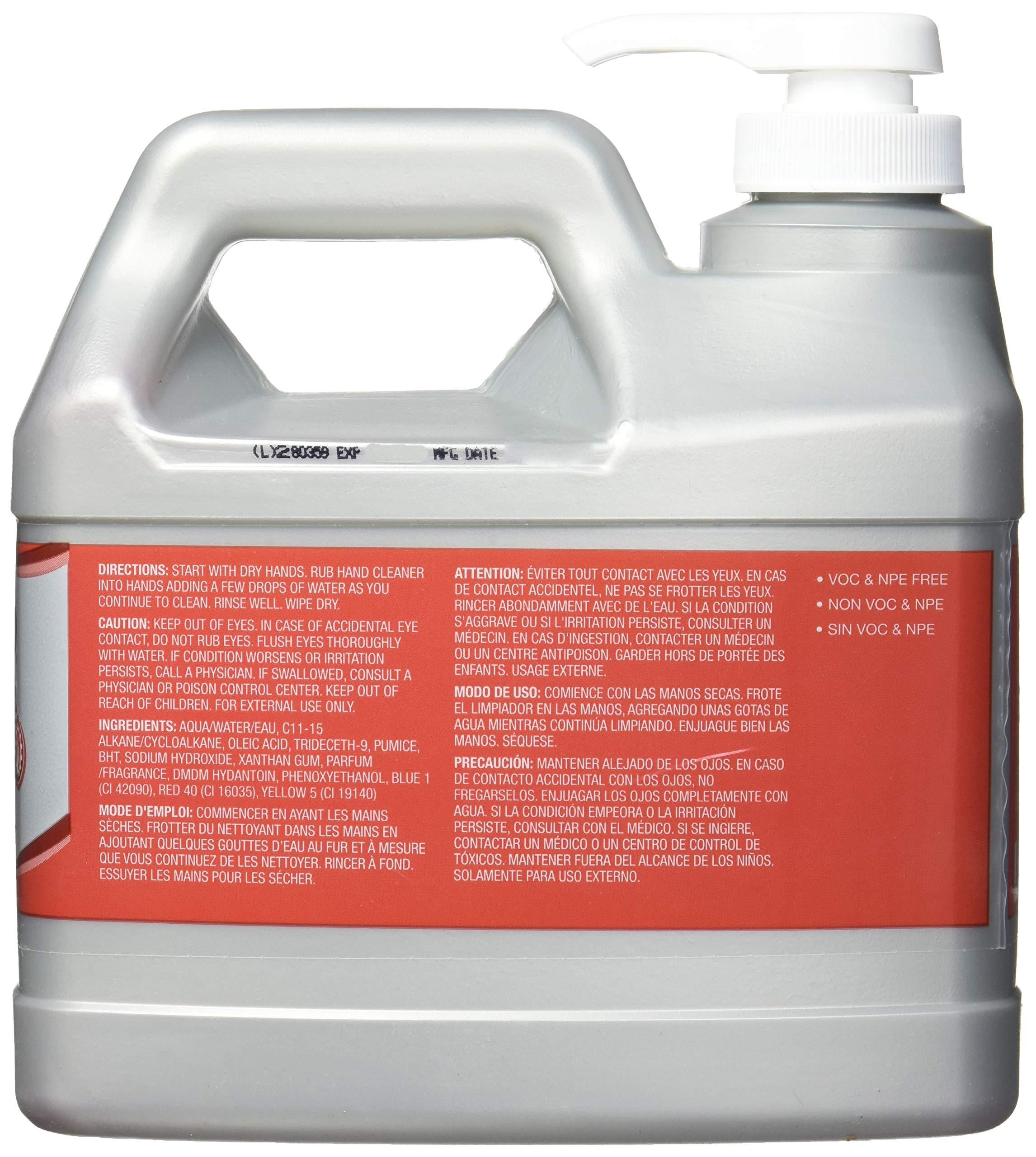 Gojo 2356-04 Cherry Gel Pumice Hand Cleaner, 0.5-gallon by Gojo (Image #1)