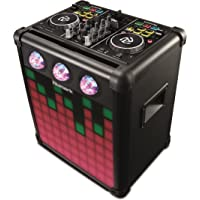 Numark Party Mix Pro   DJ Controller With Built-In Sound Reactive Light Show, Rechargeable Long-Life Portable Speaker, Easy-Pair Bluetooth Connectivity and DJ Software For Mac / PC / iOS Included