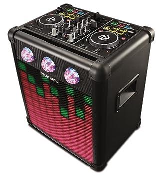 Numark Party Mix Pro - Controlador de DJ con Luces Reactivas al Sonido, Altavoz Portátil de Larga Duración Recargable, Conectividad Bluetooth de ...