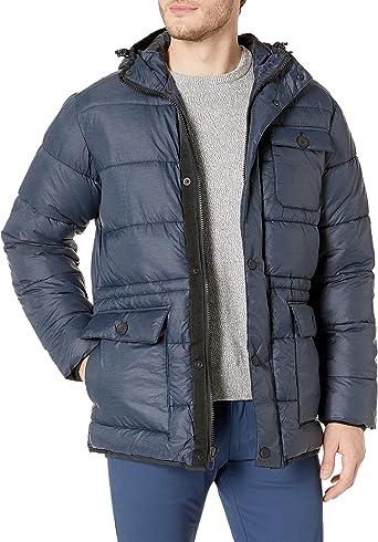 Hawke /& Co Mens Hooded Puffer Field Jacket