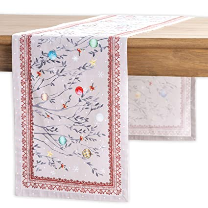Maison d' Hermine Fairy Christmas 100% Cotton Table Runner - Single Layer 14.5 Inch by 72 Inch. Perfect for Thanksgiving and Christmas best Christmas table runners