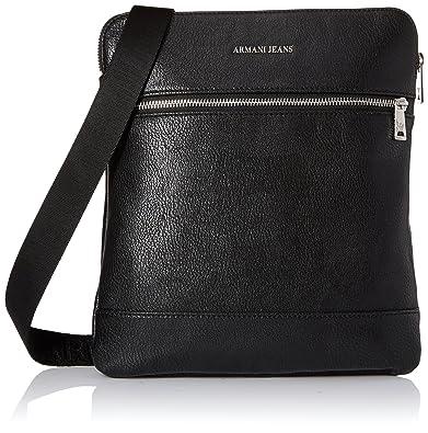 Armani Jeans Umhängetasche Herren Tasche Schultertasche Messenger Bag  Schwarz eb931f7075