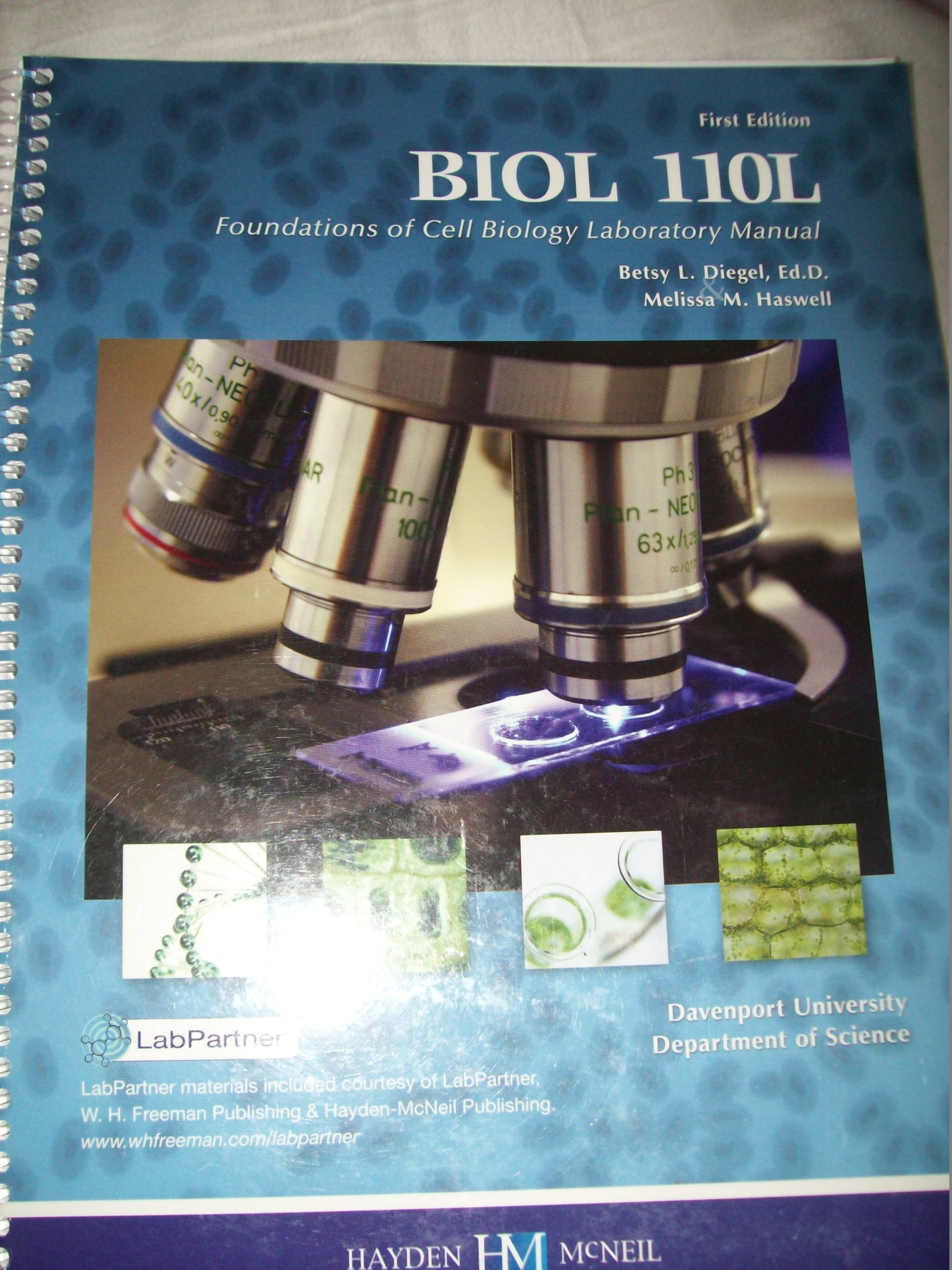 Biology 110 - Lab. Manual (Custom): Haswell: 9780738048420: Amazon.com:  Books