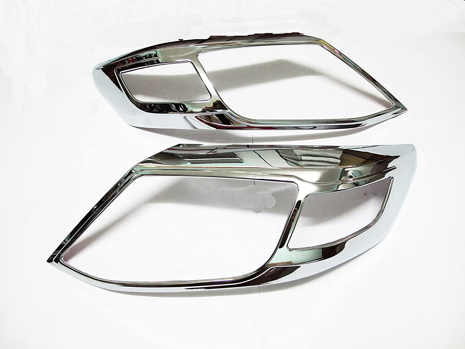 New Chrome Head Light Lamp Front Cover Trim for Toyota Fortuner 2011 2012 2013+