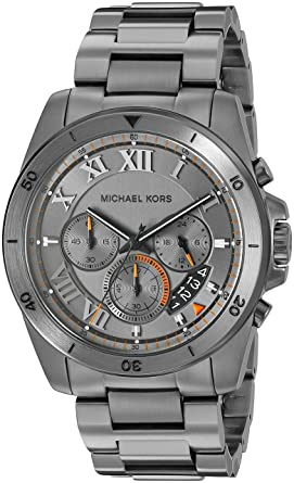 ba2f9366214c Image Unavailable. Image not available for. Colour  Michael Kors Chronograph  Grey Dial Men s Watch ...