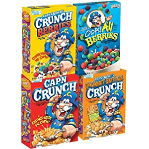 Quaker Cap'n Crunch Breakfast Cereal, 4 Flavor Variety Pack