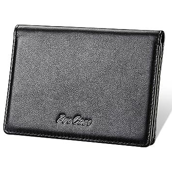ae15b922fb8a Amazon.com  Genuine Leather Business Card Holder
