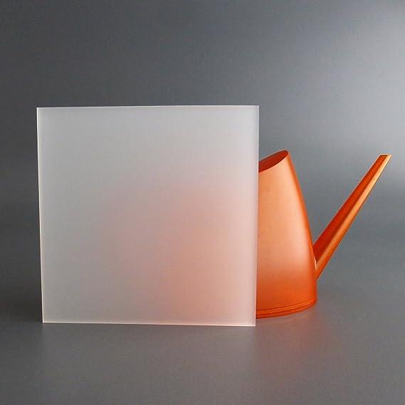 3mm Acrylglas Platte 25x25 cm satiniert Milchglas