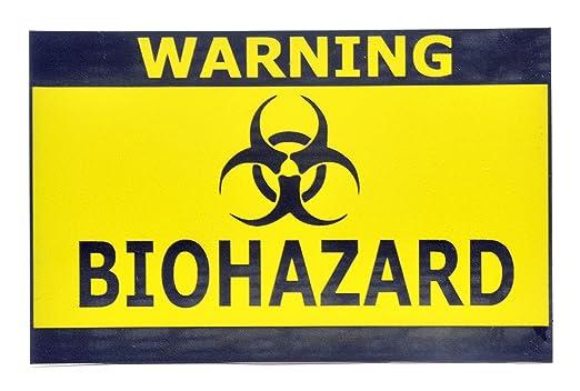 ORIGIN Cartel Autoadhesivo de Biohazard Apto para Puertas ...