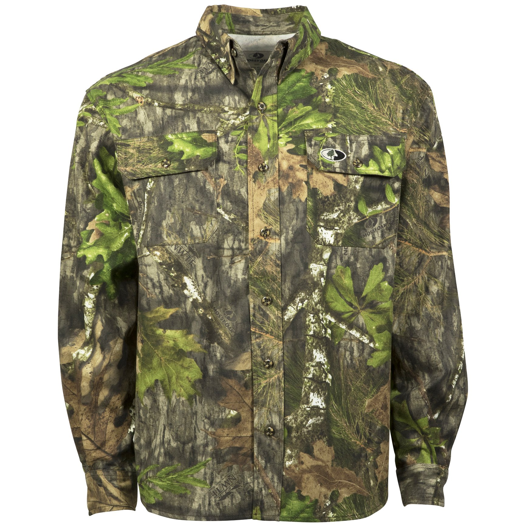 Mossy Oak Camouflage Cotton Mill Hunt Shirt, Obsession, Large by Mossy Oak