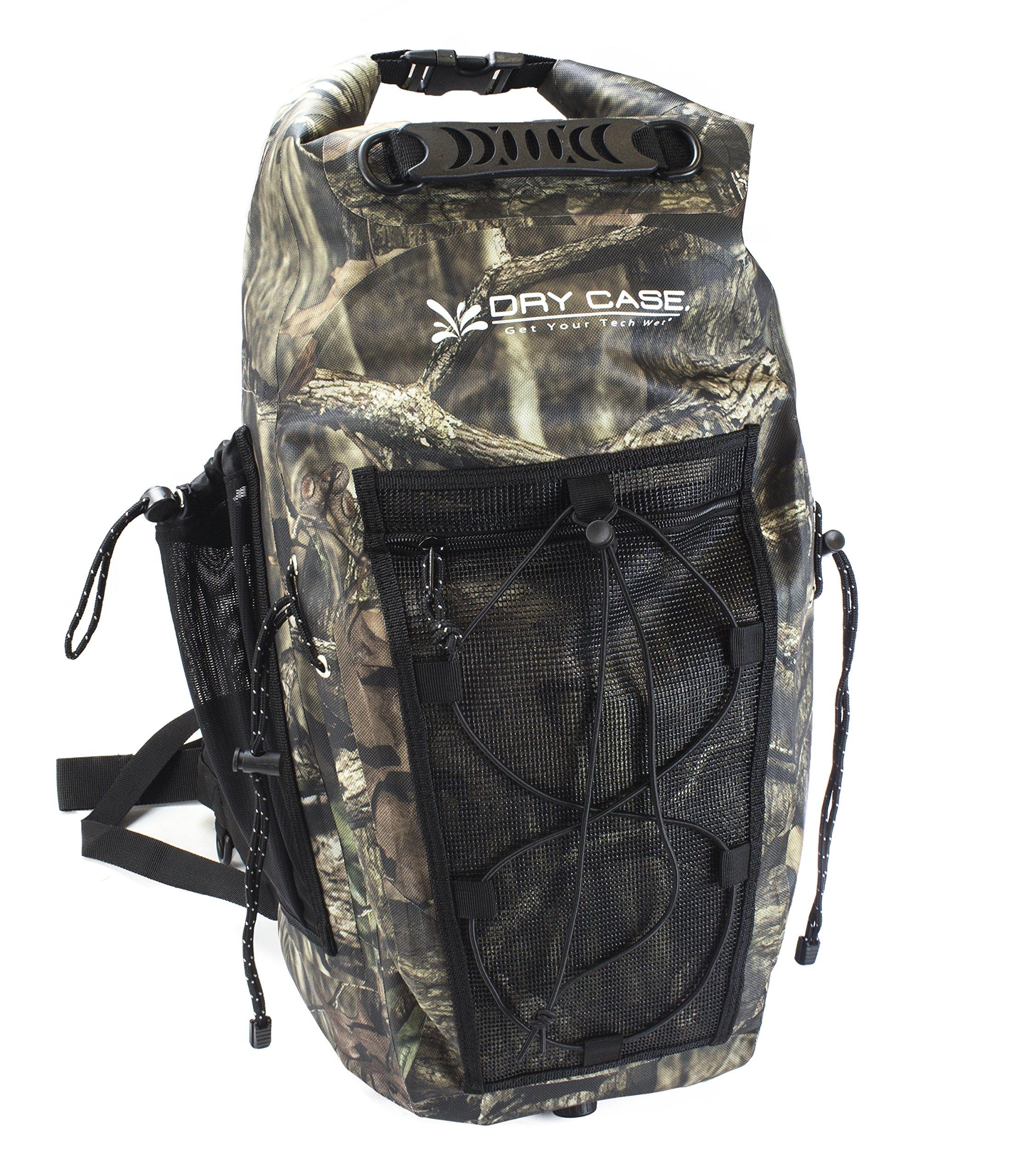 DryCase Brunswick Waterproof Camo Backpack, 35 L/Large, Break-Up Infinity