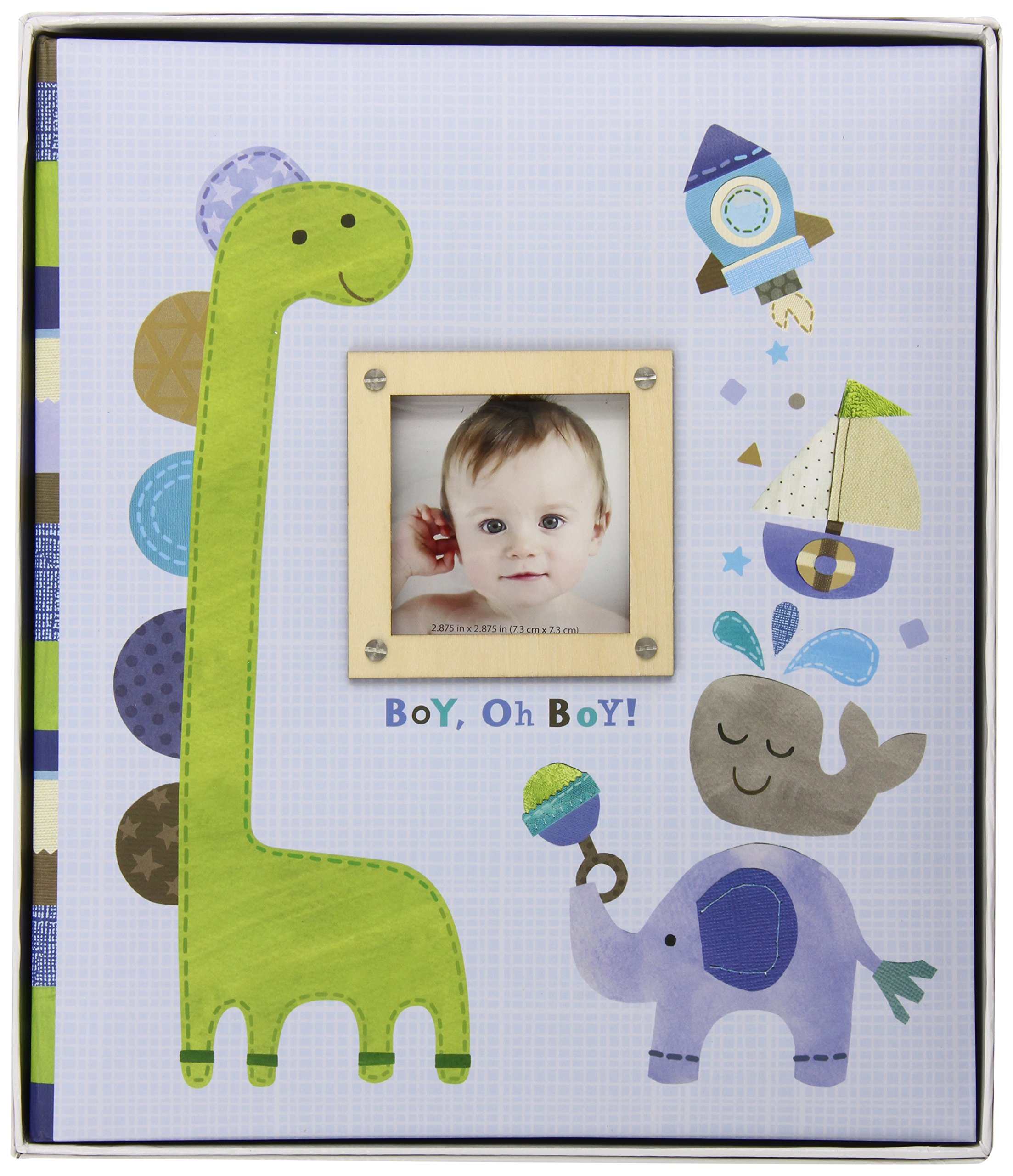 C.R. Gibson First 5 Years Loose Leaf Memory Book, Record Memories and Milestones on 64 Beautifully Illustrated Pages - Boy Oh Boy by C.R. Gibson