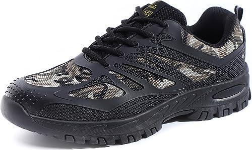 Amazon.com: Punta de acero zapatos de seguridad de trabajo ...