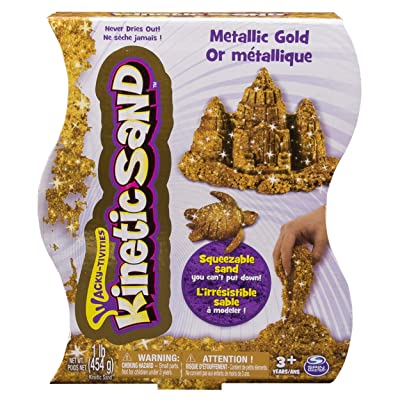 Kinetic Sand L 1lb Metallic Gold GBL: Toys & Games