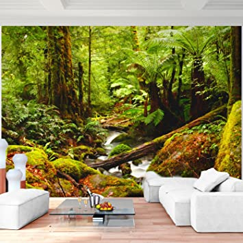 Fototapete Wald Vlies Wand Tapete Wohnzimmer Schlafzimmer Büro Flur ...