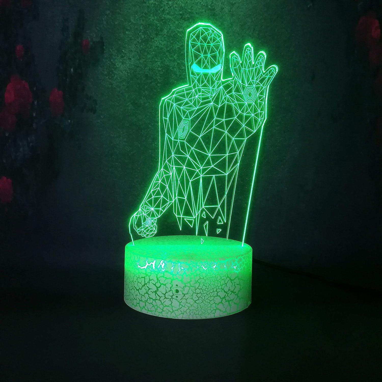 Lámpara de decoración creativa para el hogar bombilla de carga dormitorio bar ambiente de fiesta luz nocturna rendimiento a los niños les encanta la lámpara de hendidura