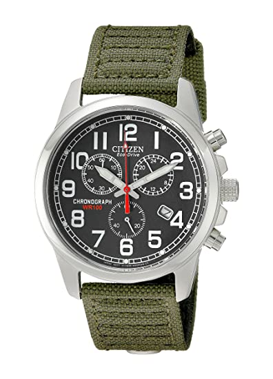 Citizen Watches Mens At0200 05 E Eco Drive Chronograph Canvas Watch by Citizen