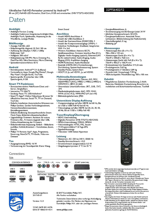 Philips Ambilight 32PFS6402/12 Fernseher 80 cm (32 Zoll