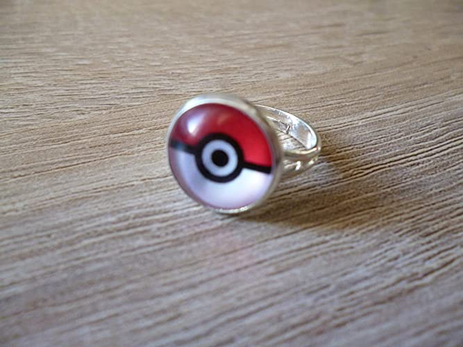 anillo Cabochon 12 mm ø - Pokeball- Pokemon: Amazon.es: Handmade