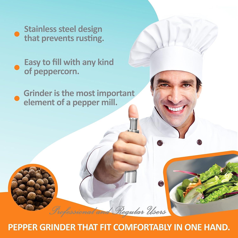 Amazon.com: Pepper Grinder: Thumb Push Pump and Grind Pepper Mills ...