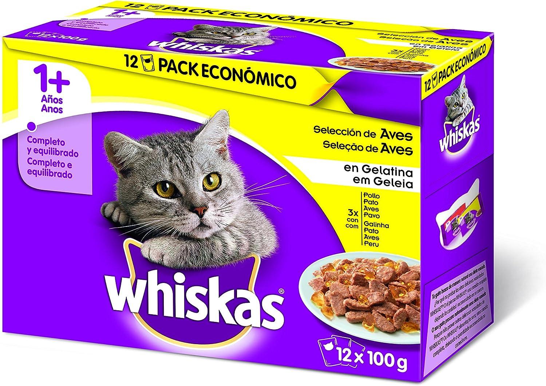 Whiskas Selección de Aves Bolsitas para Gatos Multipack 1+ Años ...